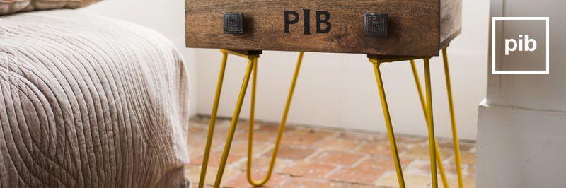 table de chevet vintage pib. Black Bedroom Furniture Sets. Home Design Ideas