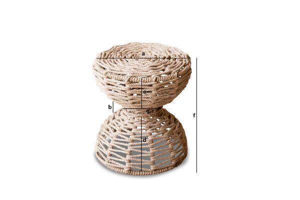 Dimensions du produit Tabouret Arpillera