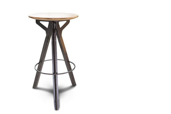 tabouret de bar jetson un si ge haut en bois de manguier. Black Bedroom Furniture Sets. Home Design Ideas