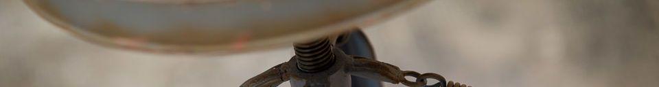 Mise en avant matière Tabouret de bar métallique Marais