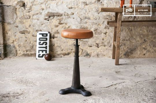 Tabouret de tailleur assise cuir ajustable