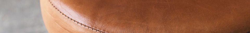 Mise en avant matière Tabouret de tailleur assise cuir ajustable