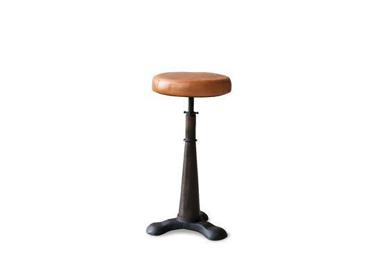 Tabouret de tailleur assise cuir ajustable Détouré