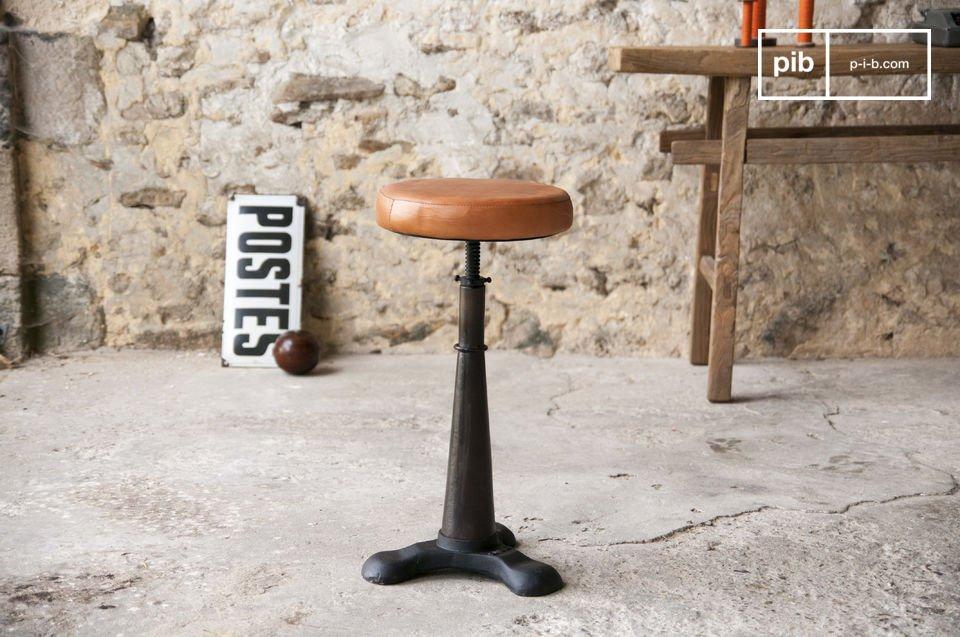 Tabouret de tailleur avec assise cuir