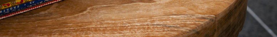 Mise en avant matière Tabouret en bois Maverick