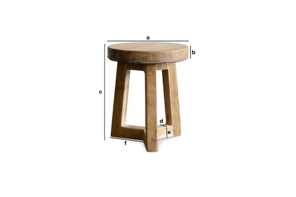 Dimensions du produit Tabouret en bois Maverick