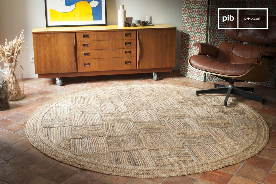 tapis rond en jute williams grand format et esprit pib. Black Bedroom Furniture Sets. Home Design Ideas
