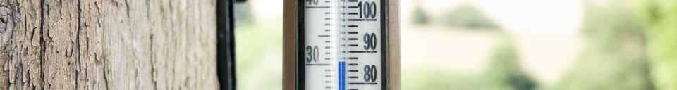 Mise en avant matière Thermomètre mural en laiton