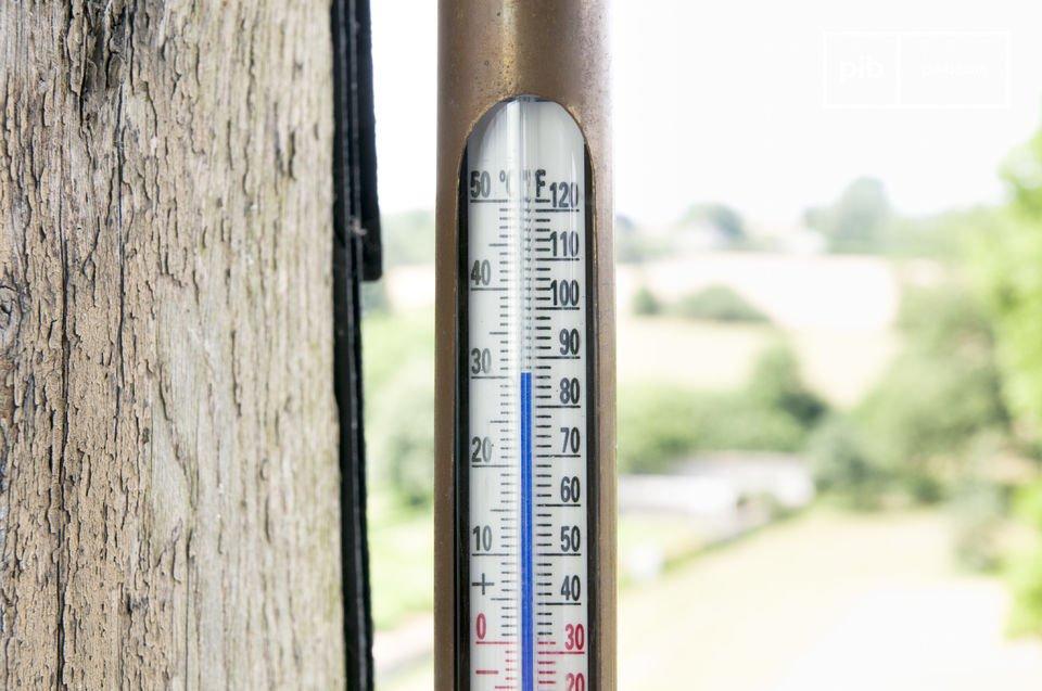 Thermomètre intérieur-extérieur au look rétro