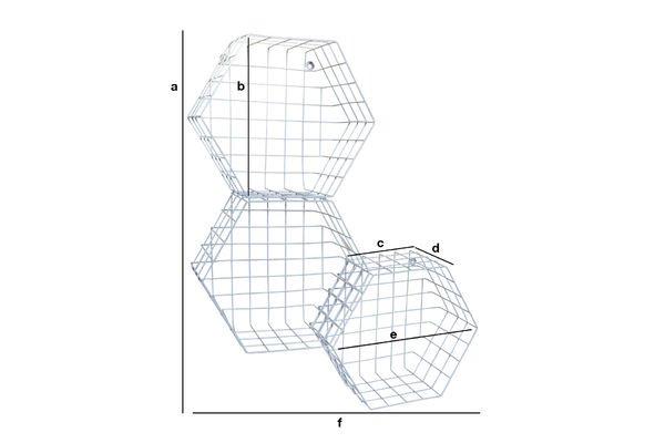 Dimensions du produit Trio de rangement Léa