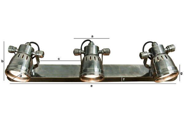 Dimensions du produit Triple applique Bistrot