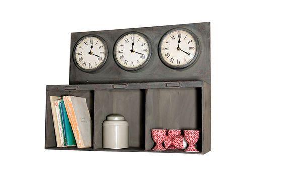 Triple horloge à casiers Détouré