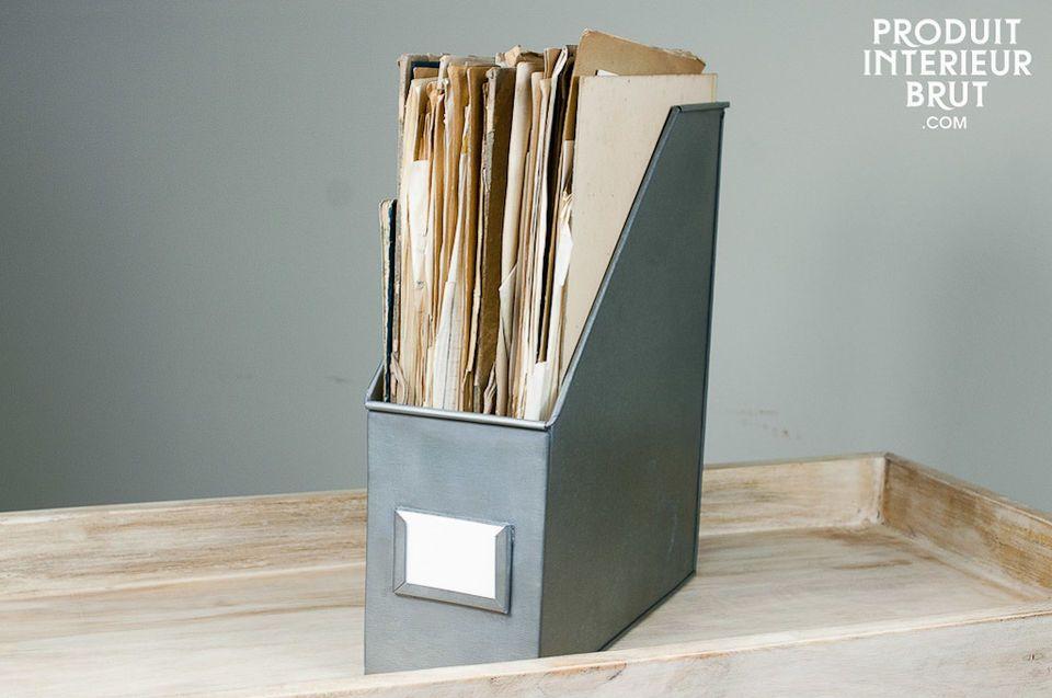 Trois boîtes à dossiers zinc