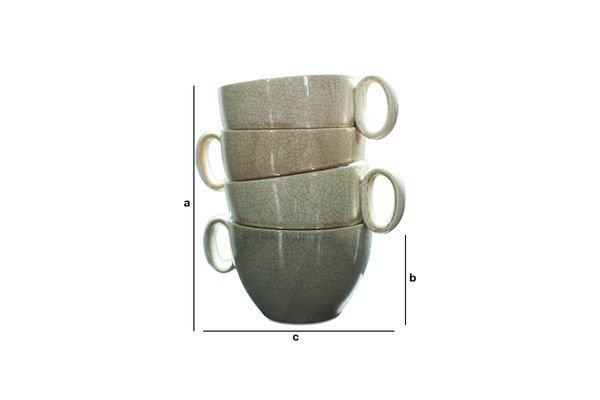 Dimensions du produit Vase Amalia Tasses