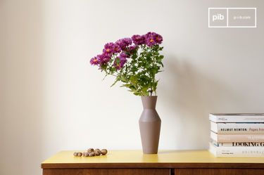 Vase en céramique Corset coloris rouille