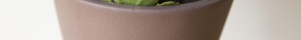Mise en avant matière Vase en céramique Corset coloris rouille