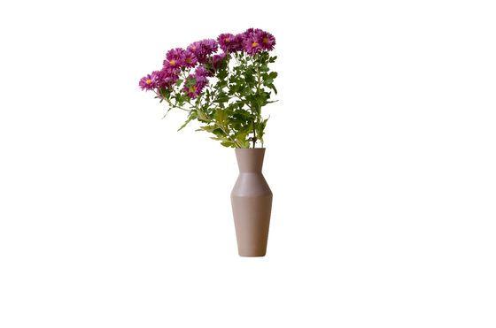 Vase en céramique Corset coloris rouille Détouré