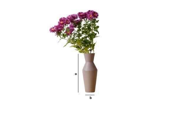 Dimensions du produit Vase en céramique Corset coloris rouille