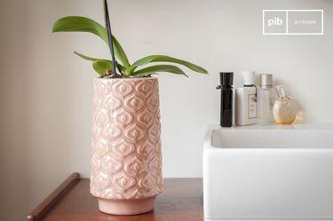 Vase en céramique rose Aurore