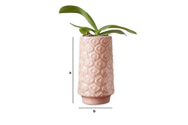 Dimensions du produit Vase en céramique rose Aurore