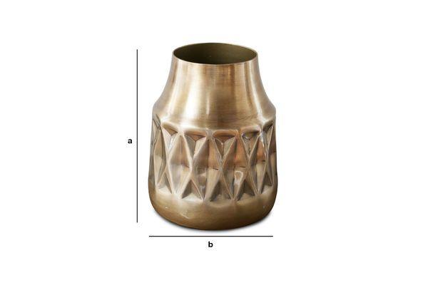 Dimensions du produit Vase en laiton Layti