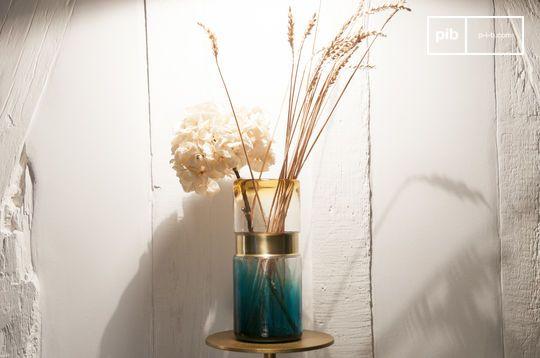 Vase en verre Brassbelt