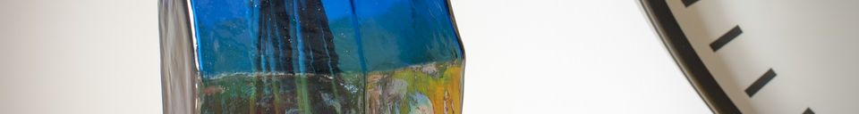 Mise en avant matière Vase en verre Ingeborg
