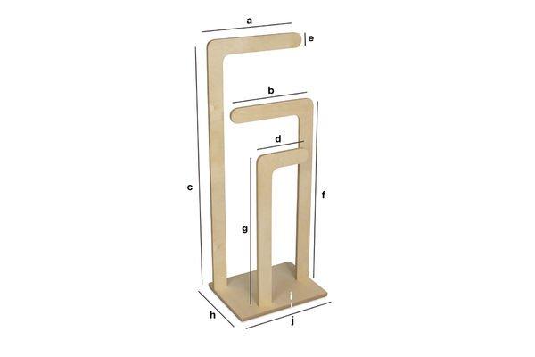 Dimensions du produit Vestiaire en bois Sweden
