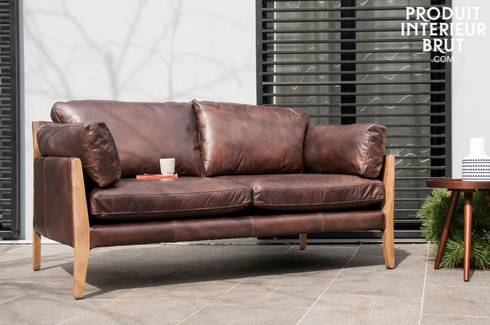 Commander un canapé en cuir style scandinave