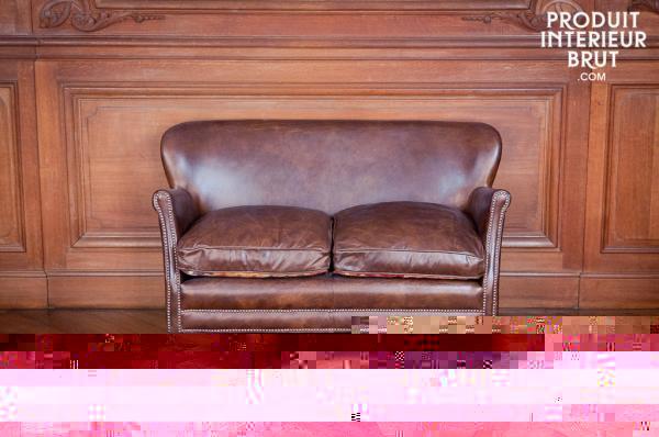 canape cuir le cachet d 39 un canap club. Black Bedroom Furniture Sets. Home Design Ideas