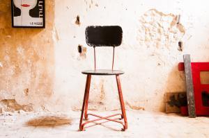 Chaise métal Bastel