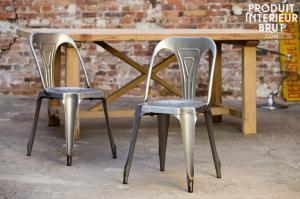 Chaise Multipl's finition acier brossé