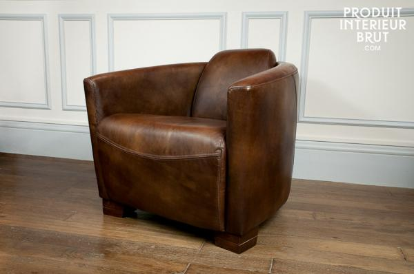Fauteuil cuir Red Baron