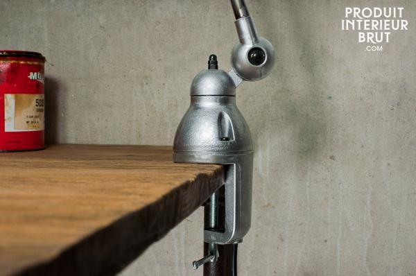 Lampe industrielle métal Jieldé Loft à étau