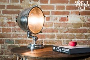 Chehoma : Lampe phare argentée XXL