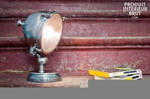 Lampe phare argentée