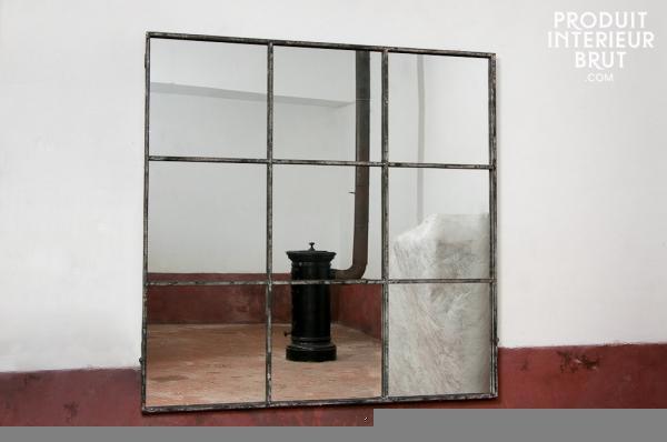 Miroir Carre 9 Sections