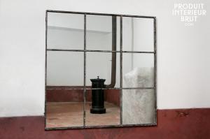 miroir industriel grand format