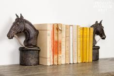 Chehoma : Paire de serre-livres Hippiques