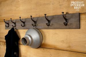 Chehoma : Patère géante bois-métal