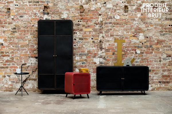 Meuble vintage la mode du style vintage s 39 attaque la - Meubles industriels pas cher ...