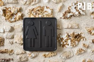 Athezza : Plaque WC en bronze