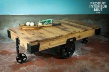 Table basse en bois Wood Wagon