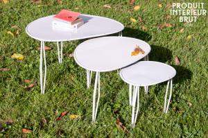tables basses style scandinave vintage meubles scandinaves par pib. Black Bedroom Furniture Sets. Home Design Ideas