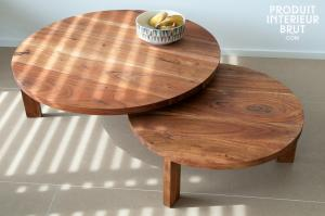 Table basse Stockholm double disque