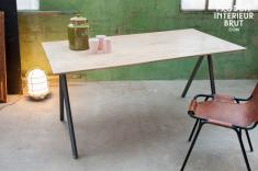 Pomax : Table bois et métal Jetson