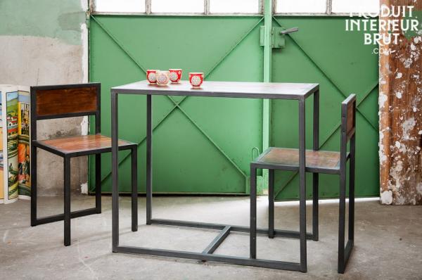 Table industrielle bois et métal